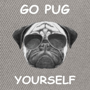 go pug yourself weiß - Snapback Cap