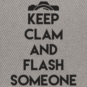 Keep calm to flash someone! - Snapback Cap