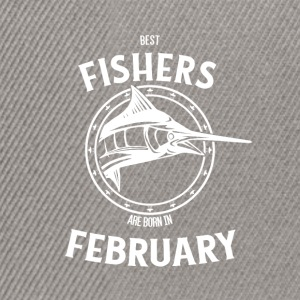 Present for fishers born in February - Snapback Cap