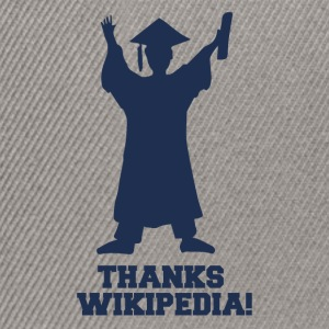 High School / Graduation: Merci Wiki.pedia! - Casquette snapback