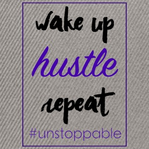 wake up, hustle, repeat - Snapback Cap