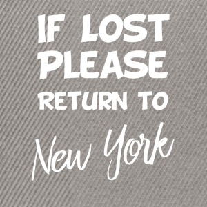 If lost - New York - Snapback Cap