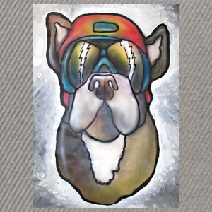 Bulldog with sunglasses and helmet - Snapback Cap