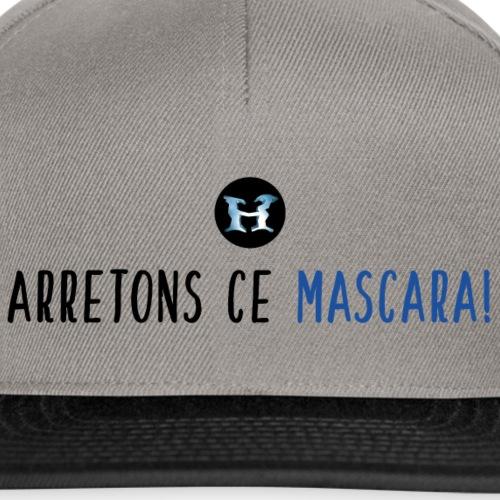 Arretons Ce Mascara - Logo - Noir Bleu - Casquette snapback