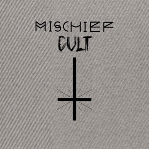 Mischief Cult | Upside Down Cross Design | Occult - Snapback Cap
