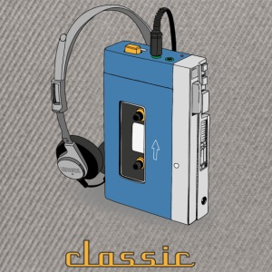 CLASSIC-WALKMAN retro design, blue - Snapback Cap