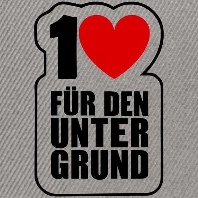 1 Herz für den Untergrund - Original Logo