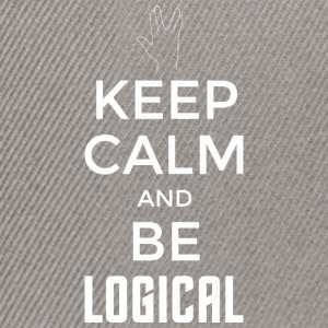 Keep Calm and be logical (light) - Snapback Cap