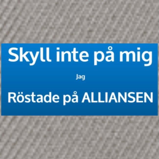 Jag röstade på alliansen (blå)