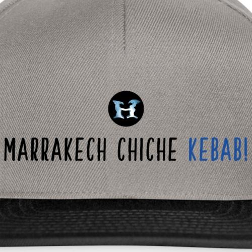 Marrakech Chiche Kebab - Logo - Noir Bleu - Casquette snapback