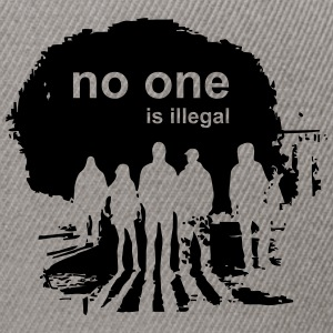 029 - no one is illegal - Snapback Cap
