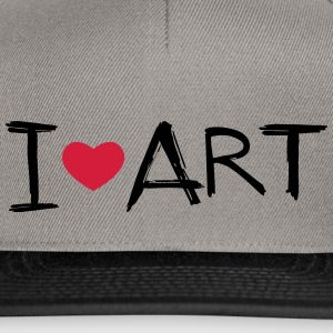 I love Art - Snapback Cap