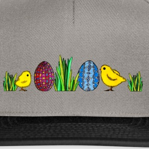 Easter Egg Chick Easter chicks grass egg Spring - Snapback Cap