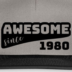 Awesome siden 1980 / Birthday-Shirt - Snapback-caps