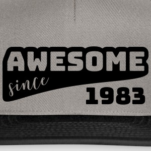 Awesome siden 1983 / Birthday-Shirt - Snapback-caps