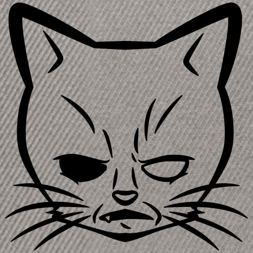 Mad-Cat and Logo B / black - Snapback Cap