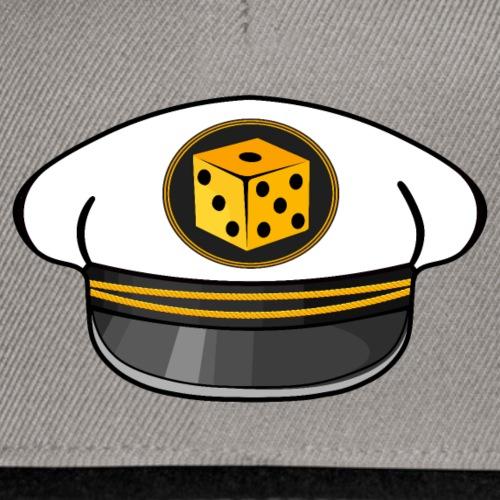 "Captain Hat vorne / ""getonboard.tv"" seitlich - Snapback Cap"