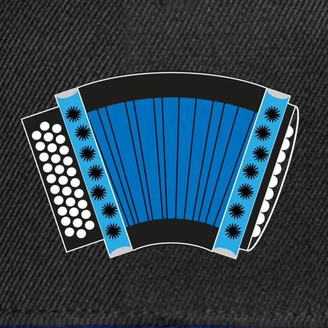 Schwyzerörgeli blau schwarzer Hintergrund