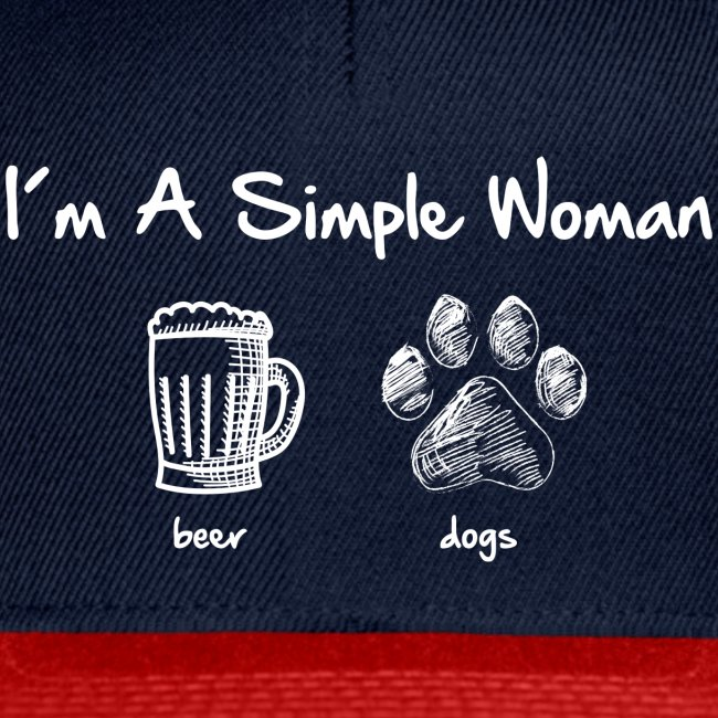 Vorschau: simple woman beer white - Snapback Cap