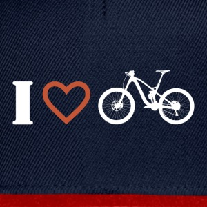 I love mountainbiken 1 - Snapback Cap