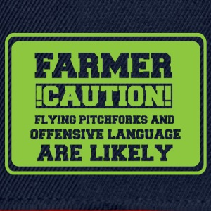 Farmer / Landwirt / Bauer: Farmer! Caution! Flying - Snapback Cap