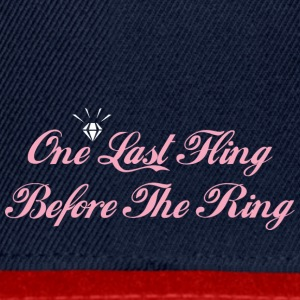 One Last Fling Before The Ring Getting Married - Snapback Cap