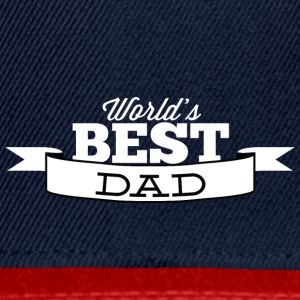 world best dad white - Snapback Cap