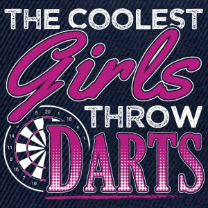 THE COOLEST GIRLS THROW DARTS - Snapback Cap