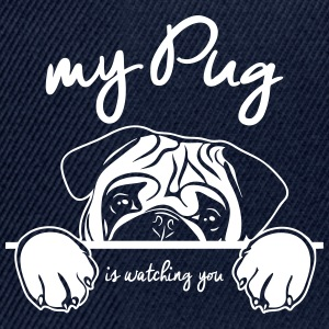 PUG watching - Snapback Cap