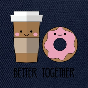 Beste Freunde: Better together - Coffe and Donut - Snapback Cap