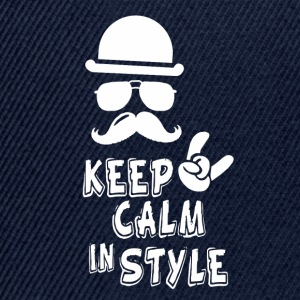 keep calm in style - Snapback Cap