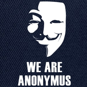 anonymus maskere anti Demo politisk white.Face - Snapback-caps