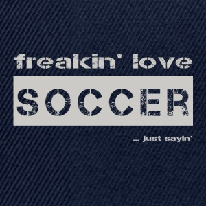 love SOCCER - bright T-shirt - Snapback Cap