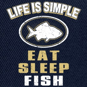 Eat Sleep Fish - Snapback Cap