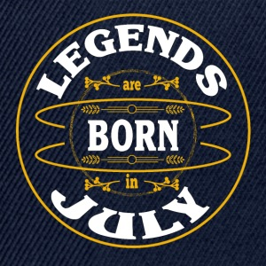 Birthday July legends born gift birth - Snapback Cap