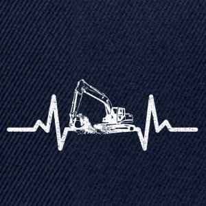 My heart beats for excavators! - Snapback Cap