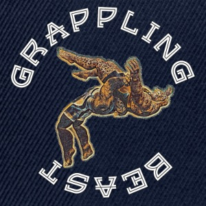 GRAPPLING BEAST (APE VS JAGUAR) NAVY - Snapback Cap