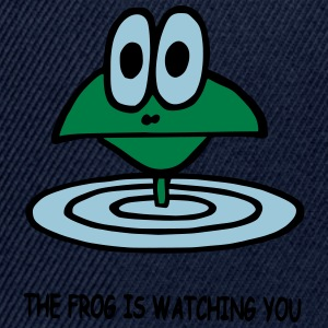 the frog is watching you - Snapback Cap