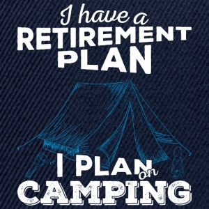 Retirement plan camping (light) - Snapback Cap
