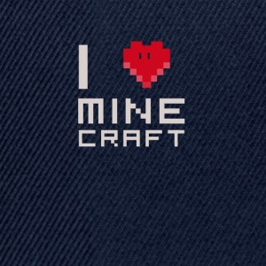 I love MC love computer games Nerd square face - Snapback Cap