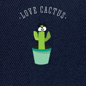 Cactus green Love spines beard hipster plant com - Snapback Cap