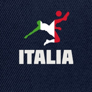 football italia Italy flag football but balle spor - Casquette snapback