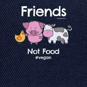Friends Not Food TShirt for Vegans and Vegetarians - Snapback Cap