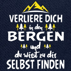 Mountains - Tab dig selv i bjergene ... - T-Shirt - Snapback Cap