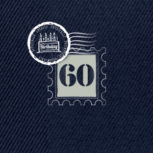 60th birthday 60 years congratulatory gift tag - Snapback Cap
