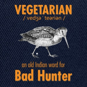 Vegetarian - an old Indian word for Bad Hunter - Snapback Cap