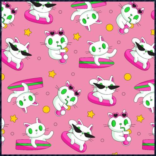 Maske Gesichtsmaske lustige Katzen Muster - Snapback Cap