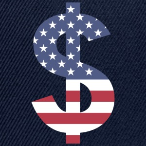 Dollar on American flag - Snapback Cap