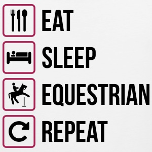 Eat Sleep Equestrian Repeat - Männer Premium Tank Top