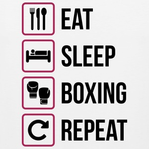 Eat Sleep Boxing Repeat - Canotta premium da uomo